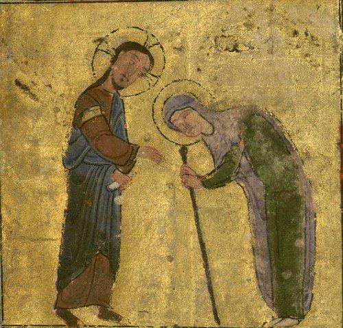 Gesù guarisce la donna curva