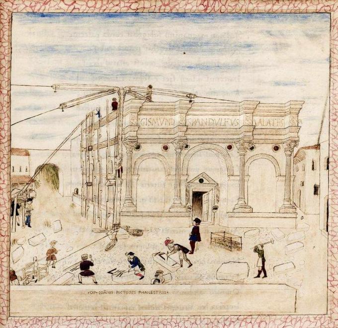 Costruzione-Tempio-Malatestiano-Basinio-Basini-BNF