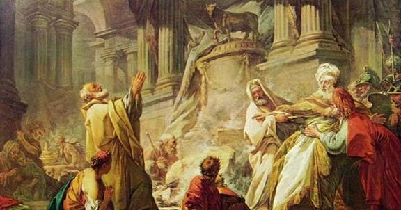 Vitello d'Oro di Fragonard 579 2 Geroboamo sacrifica al vitello d'oro