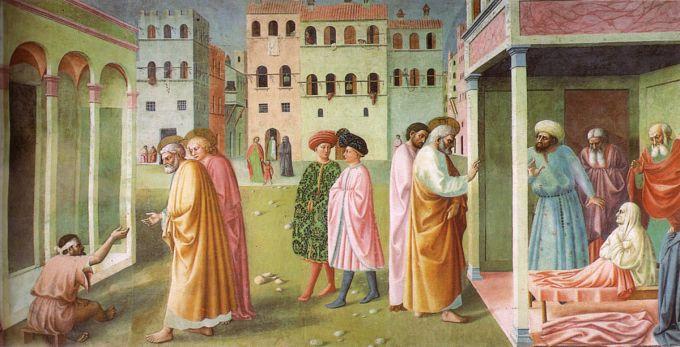 1200px-Cappella_brancacci,_Guarigione_dello_storpio_e_resurrezione_di_Tabita_(restaurato),_Masolino